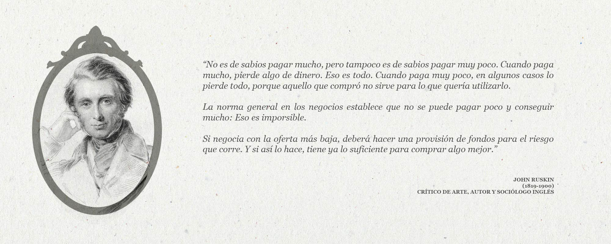 Cita de John Ruskin